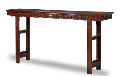A large and impressive huanghuali altar table
