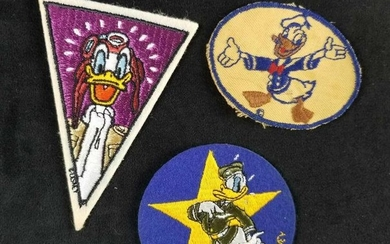A lot of 3 Vintage Donald Duck Iron On and Sewing