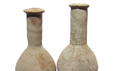 A pair of Roman ceramic unguentariums