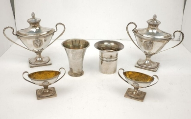 A pair of eighteenth century Swedish silver...