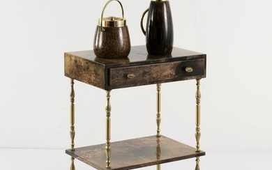Aldo Tura, Console table, ice bucket and thermos, 1960s