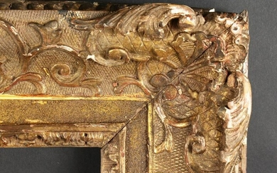 "An 18th Century Carved Frame. 32"" x 26"" - 81.25cm x"