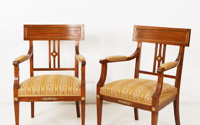 Armchairs 1 pair of Gustavian style 1900s