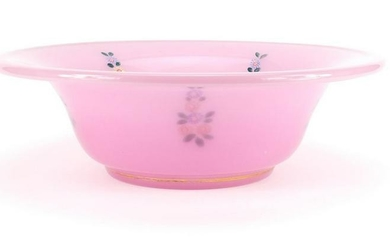 Bohemian pink opaline glass bowl made for the Islamic