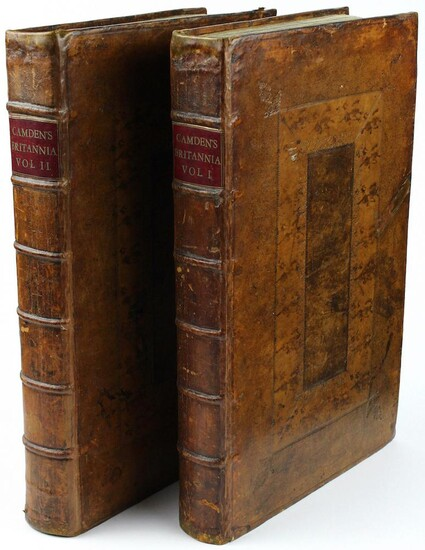 Britannia: or a chorographical description of Great Britain and Ireland, together with the adjacent islands. Written in Latin by William Camden, Clarenceux, King at Arms: and translated into English, with additions and improvements. The second edition...