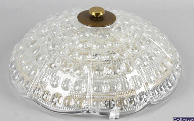 Carl Fagerlund for Orefors, a mid 20th century glass ceiling pendant light fitting.
