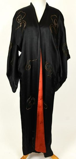 Chinese Hand Embroidered Silk Dragon Robe