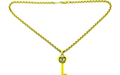 Chopard 18k Yellow Gold Key Pendant Chain Necklace