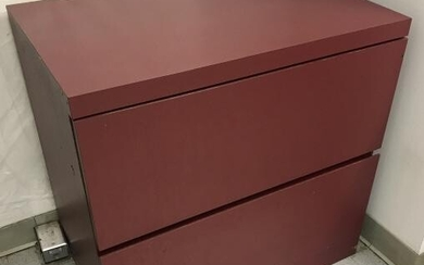 Contemporary Modern Parson's Style Red Cabinet