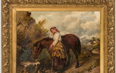 Continental School, Portrait of a Girl with Horse