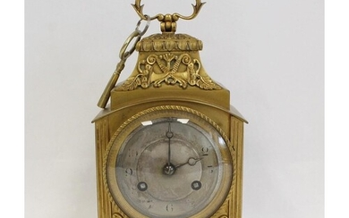 Early 20th Century ormolu mantel clock with engine turned si...