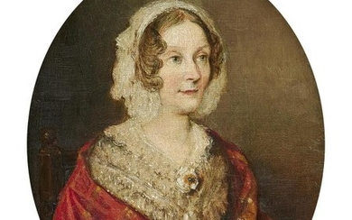 English School (late 19th century), Portrait of Eliza, Lady Farnaby, daughter of Thomas Morland, wife to Sir Charles Francis Farnaby