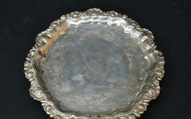 FOOTED FRENCH STERLING SILVER SALVA TRAY