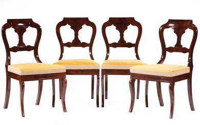Five American Classical Mahogany Dining Chairs