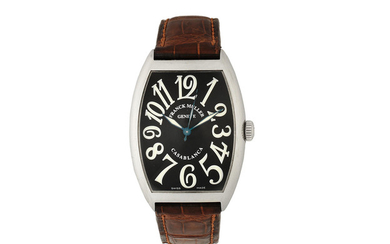 Franck Muller. A stainless steel automatic tonneau form wristwatch
