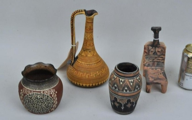 Group Four Decorated Pottery Wares