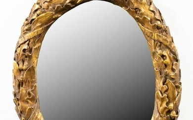 Italian Neoclassical Style Gilt Carved Oval Mirror