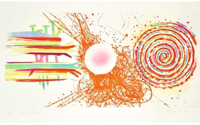 JAMES ROSENQUIST   ROUGE PAD; AND DIVERS LINE (GLENN 134, 167A)