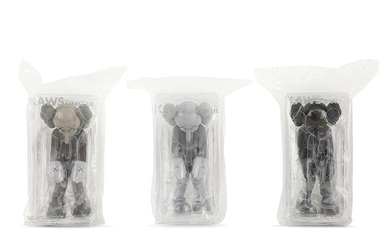 MEDICOM TOY X KAWS SMALL LIE GREY, SMALL...