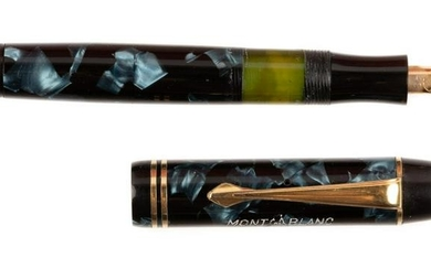 MONTBLANC No. 334 1/2 Marbled Blue Fountain Pen, Rare