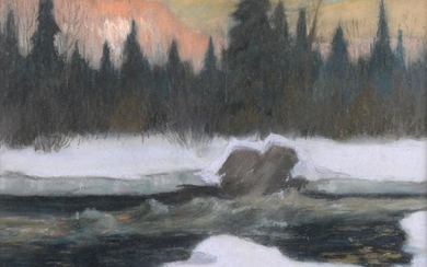 Maurice Cullen RCA (1866-1934) Canadian ''Rapids on the North River''...