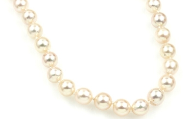Necklace made of cultured akoya pearls, endless,...