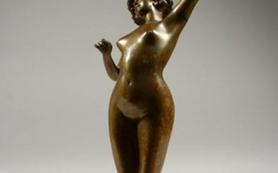 PAUL PHILIPPE (1890-1930) FRENCH. A STANDING BRONZE