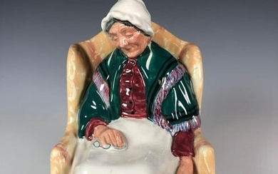 """Royal Doulton Old Lady Figurine """"Forty Winks"""" HN 1974"""