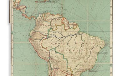 (SOUTH AMERICA.) Goode, J. Paul. Political Wall Map Series ... South America.