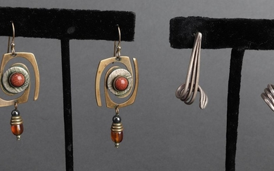 Silver & Costume Earring Group, 5 Pairs