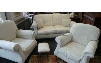 Suite, Two-Seater, Two Armchairs, One Footstool
