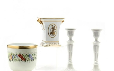 Three Mottahedeh Porcelain Items