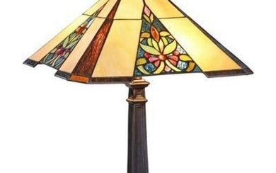 Tiffany-style Stained Glass Table Lamp