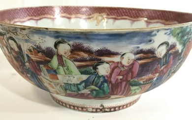 Vintage Asian Porcelain Centerpeice Bowl