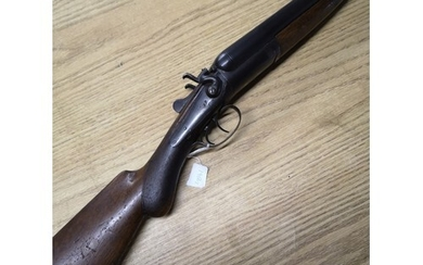 12 bore Fred Williams of London and Birmingham hammer gun wi...