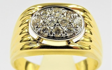 18 kt. Bicolour, White gold, Yellow gold - Ring Diamond