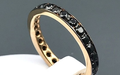 18 kt. Pink gold - Ring Onyx