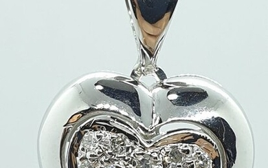 18 kt. White gold - Necklace with pendant - 0.27 ct Diamond
