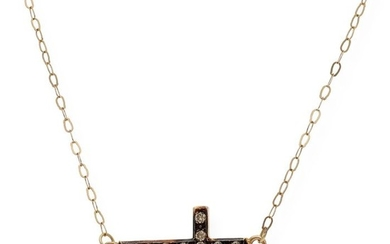 18 kt. Yellow gold - Necklace with pendant - 0.20 ct Diamond
