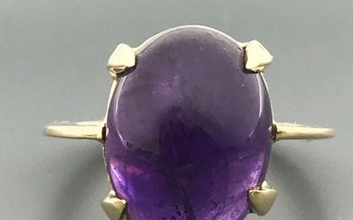 18 kt. Yellow gold - Ring - 10.05 ct Amethyst