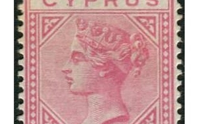 1882 CC 30pa on 1pi rose mint, fine and lightly mounted. Cat...