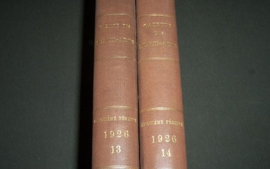 1926 GAZETTE DES BEAUX-ARTS FRENCH BOUND VOLUME LOT OF
