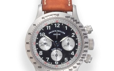 A Stainless Steel Chronograph Wristwatch, signed Franck Muller, Geneve, model:...