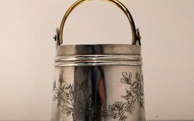19th Century Antique Silver Russian Ice Bucket St