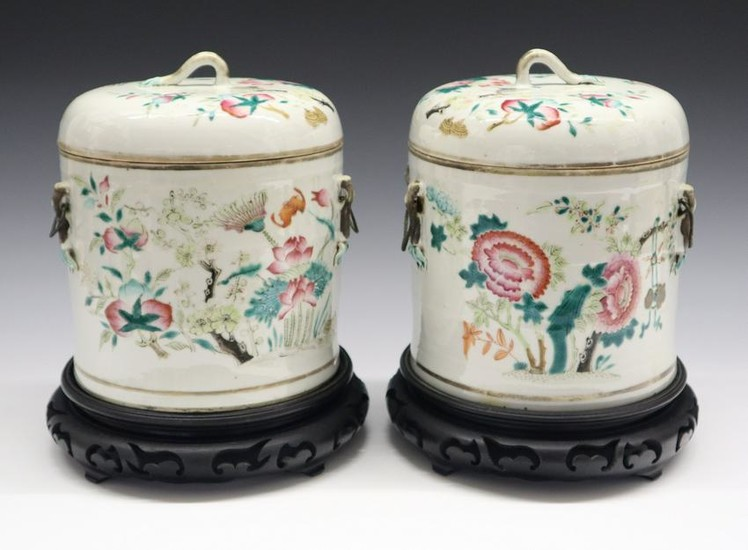 2 Chinese Porcelain Covered Jars