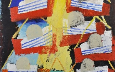 20th Century French School. An Abstract of Boats, Mixed