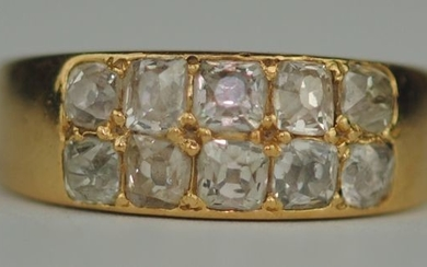 Old-Cut Diamond (1.50ct) - 18 kt. Yellow gold - Ring