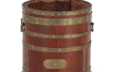 A 19th Century Mahogany and Brass Bound Wine Cooler, of...
