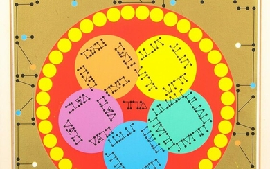 A COLLECTION OF NINE PRINTS BY AGAM FROM THE HAGGADAH.