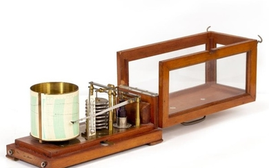 A FRENCH HARDWOOD CASED BAROGRAPH by Richard Freres of...